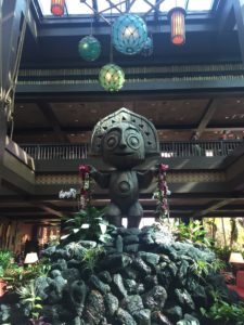 Poly atrium statue