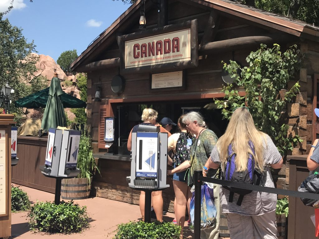 Epcot International Food and Wine Festival Canada Kiosk