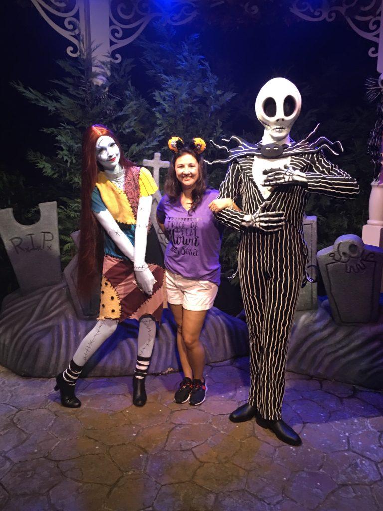 Meeting Jack Skellington and Sally at Mickey's Not So Scary Halloween Party 2018