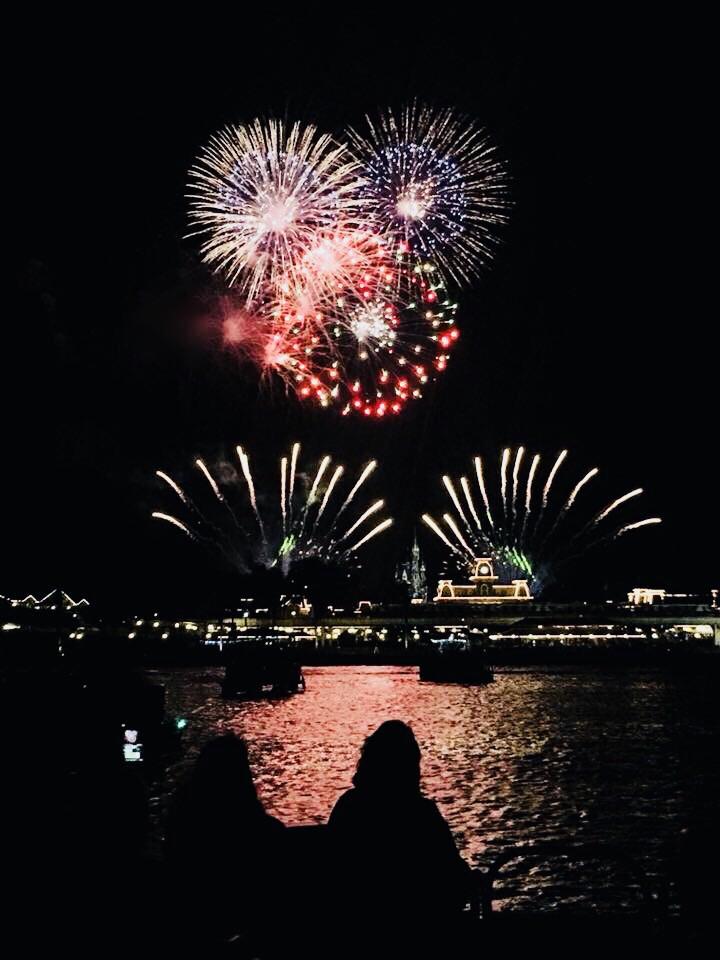 Magic Kingdom Fireworks cruise on Seven Seas Lagoon