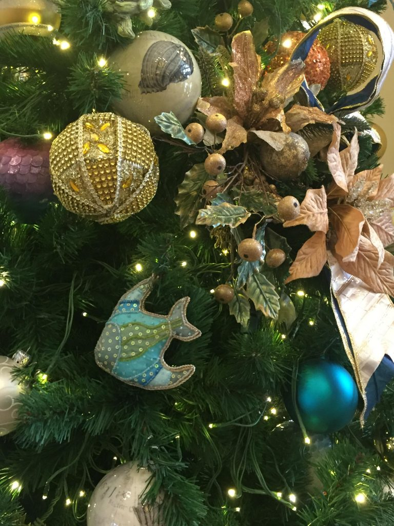 details on the Christmas tree at Disney's Beach Club Resort