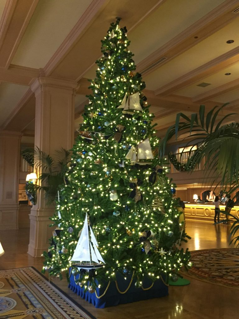 Disney's Yacht Club Christmas tree