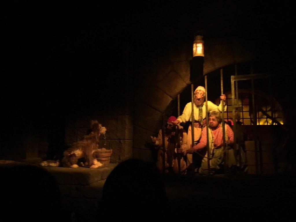 Lock scene inside Pirates of the Caribbean Magic Kingdom