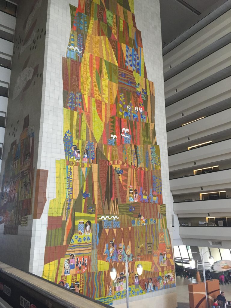 Mary Blair mosaic mural at Disney's Contemporary Resort