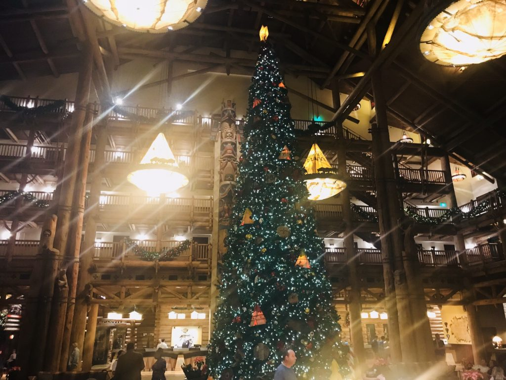 Disneys Wilderness Lodge Christmas tree
