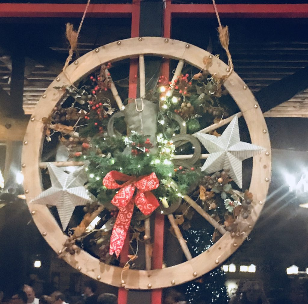 Christmas Wagon Wheel at Disney's Whispering Canyon Cafe
