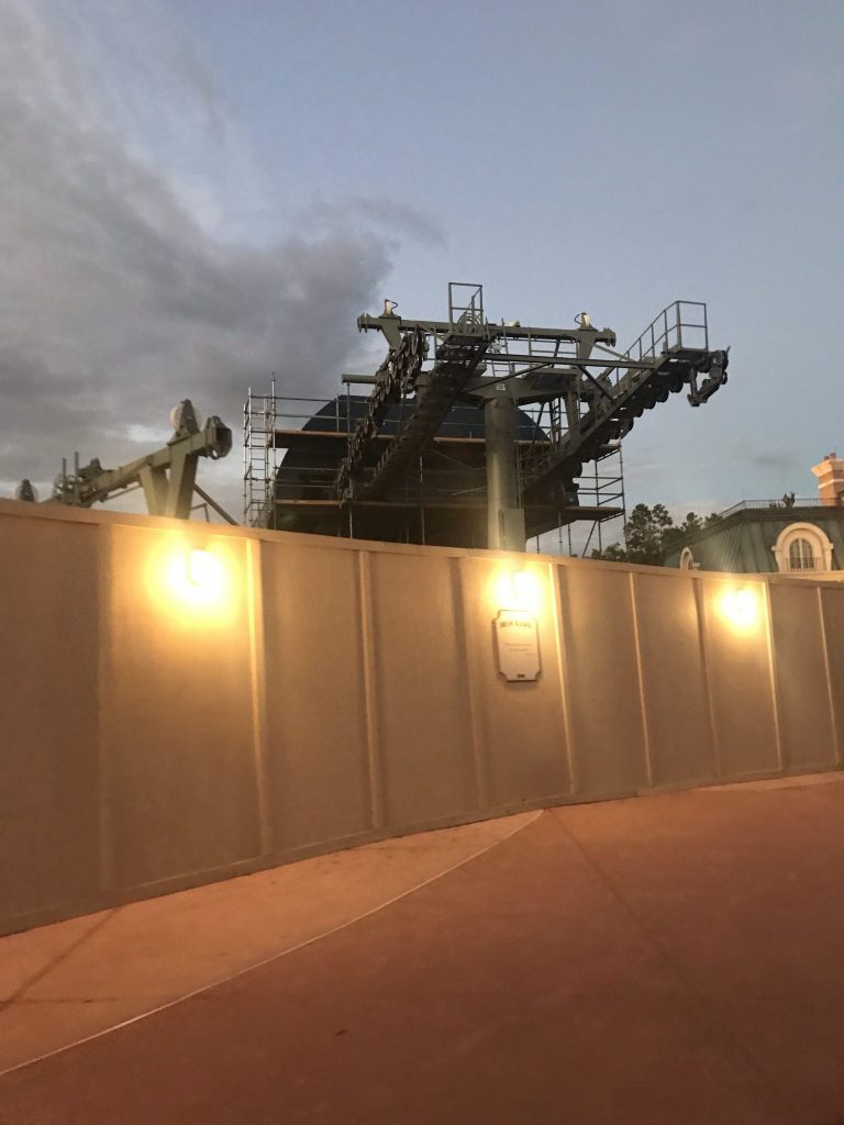 Skyliner station at Epcot World Showcase