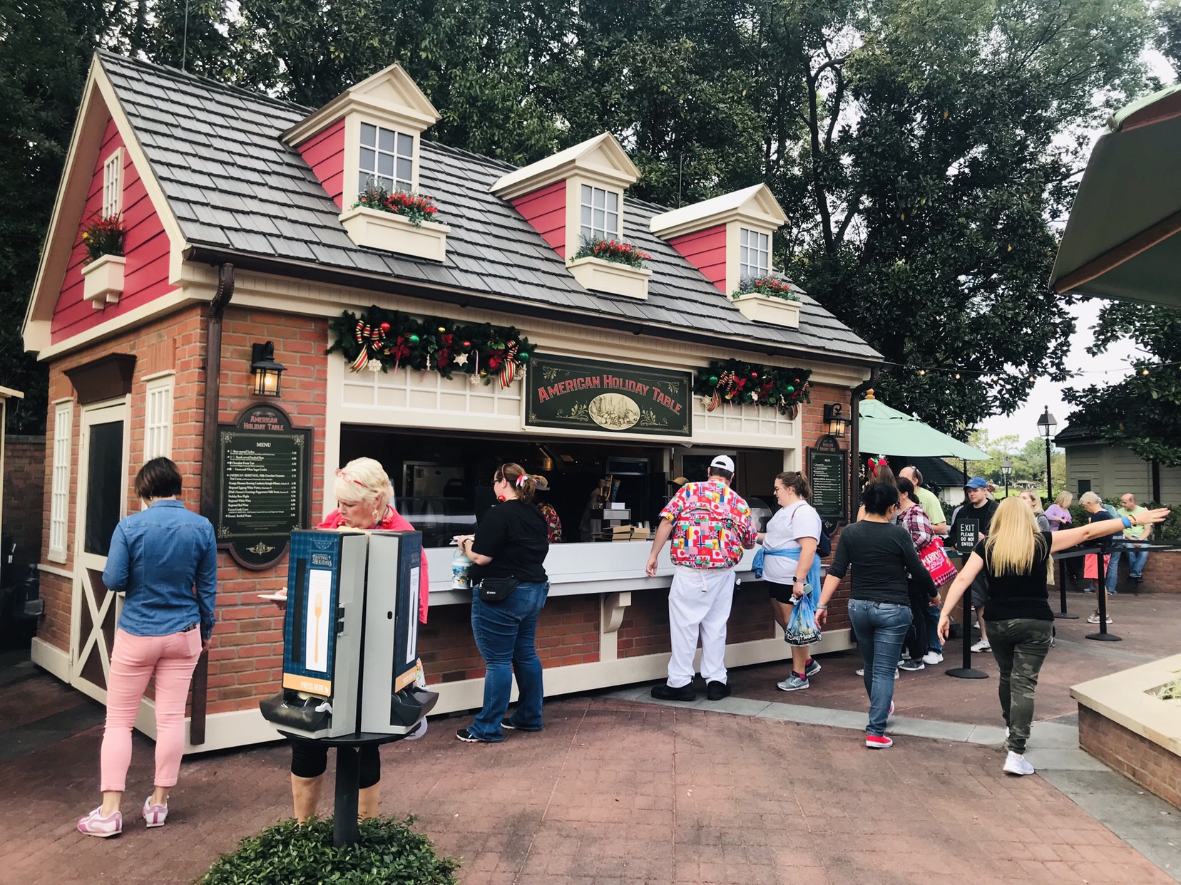 American Holiday Kitchen booth menu Epcot Holiday Festival