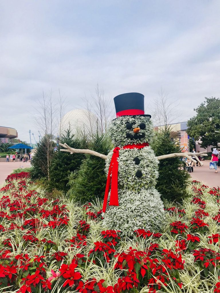 Epcot Festival of the Holidays decorations