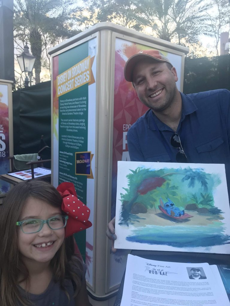 Disney artist Rob Kaz at Epcot Festival of the Arts