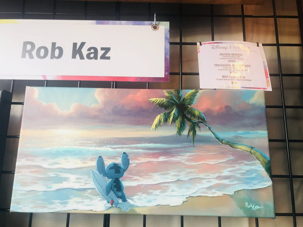 Rob Kaz art for sale at Epcot Festival of the Arts