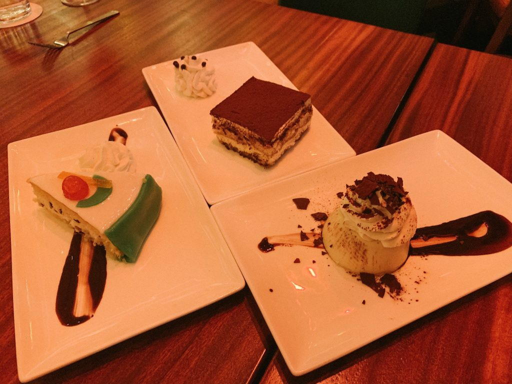 desserts at Maria & Enzo's