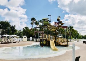 back side of kids water park