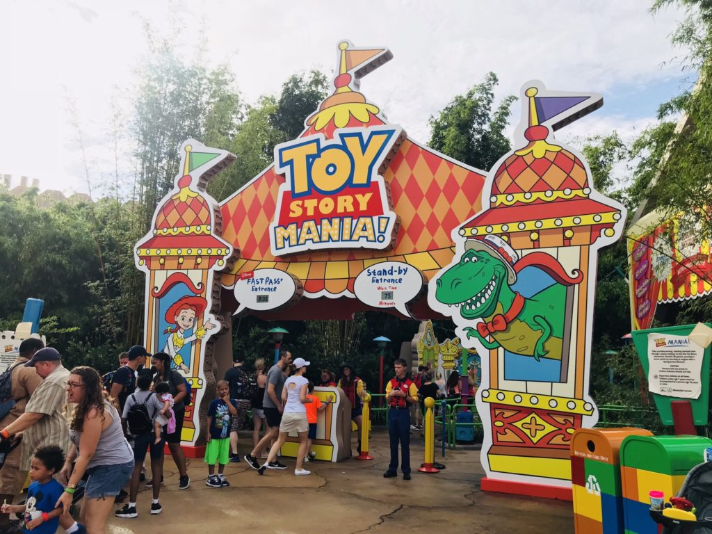 FastPass and Standy-by line entrances at Toy Story Mania