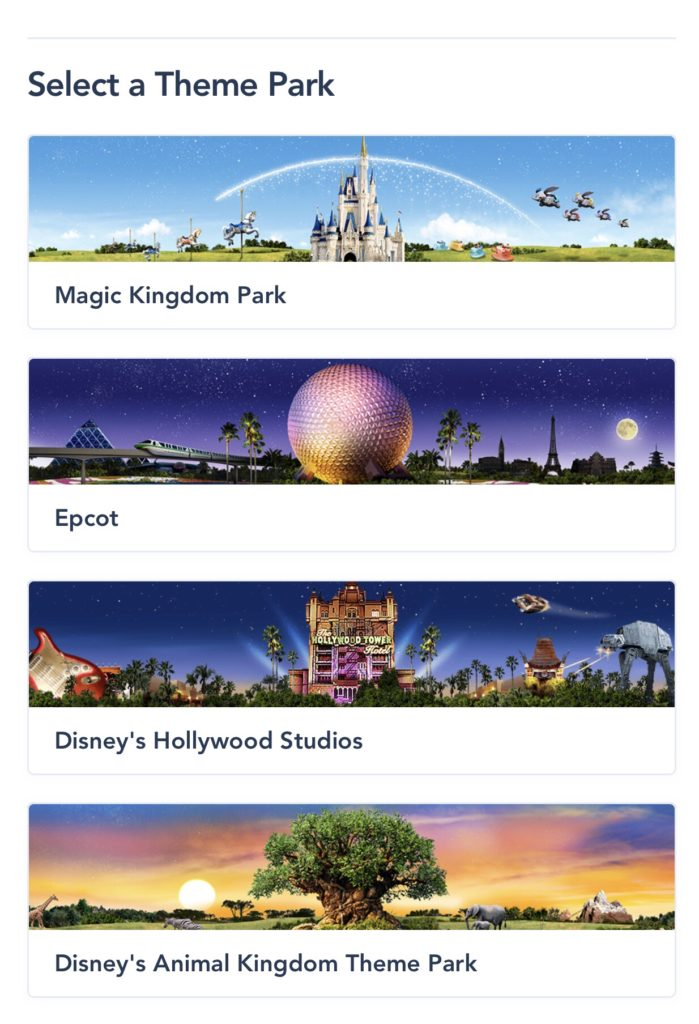 Select a Theme Park screenshot