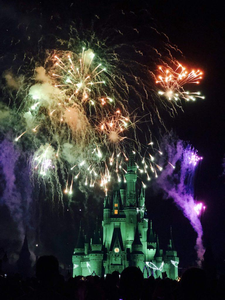 Fireworks Magic Kingdom Mickeys Not So Scary Halloween Party