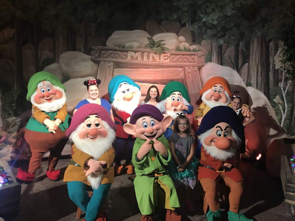 Seven Dwarfs Character Meets MAgic Kingdom Boo Bash Mickeys Not So Scary Halloween Party