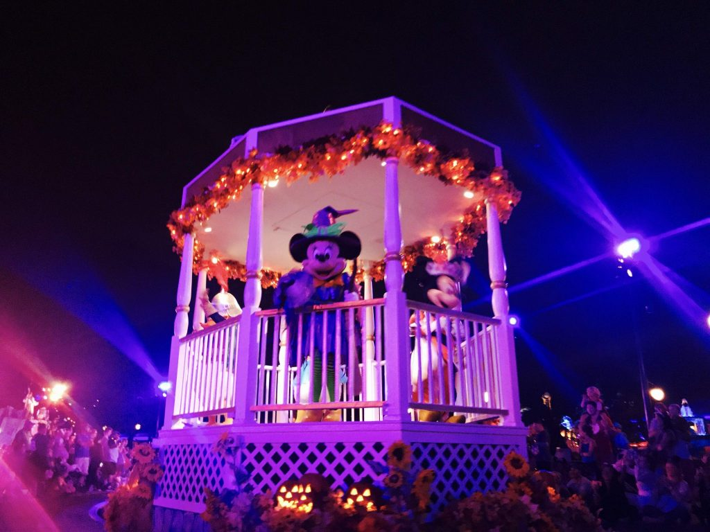 Minnie Mouse in the Boo to You parade at Mickey's Not So Scary Halloween Party