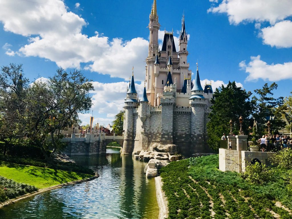 Magic Kingdom Castle view from the side