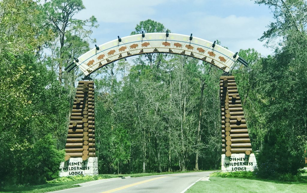 Entry to Disney's Wilderness Lodge