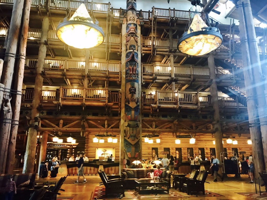 Wilderness Lodge check in desk