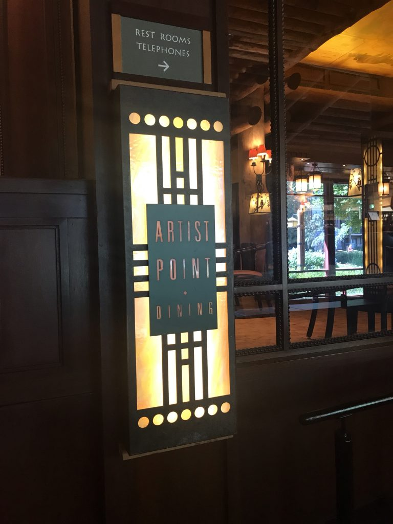 Artist Point Signature dining at Disney's Wilderness Lodge