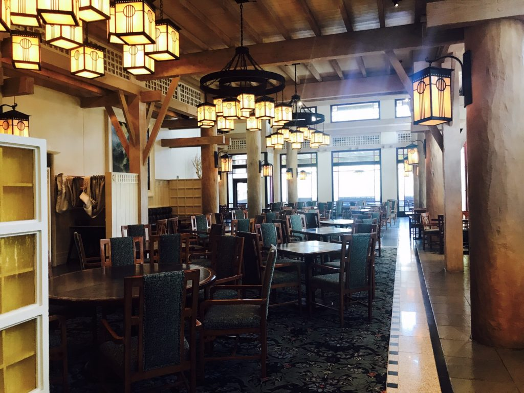 Inside Artist Point Restaurant at Disneys Wilderness Lodge