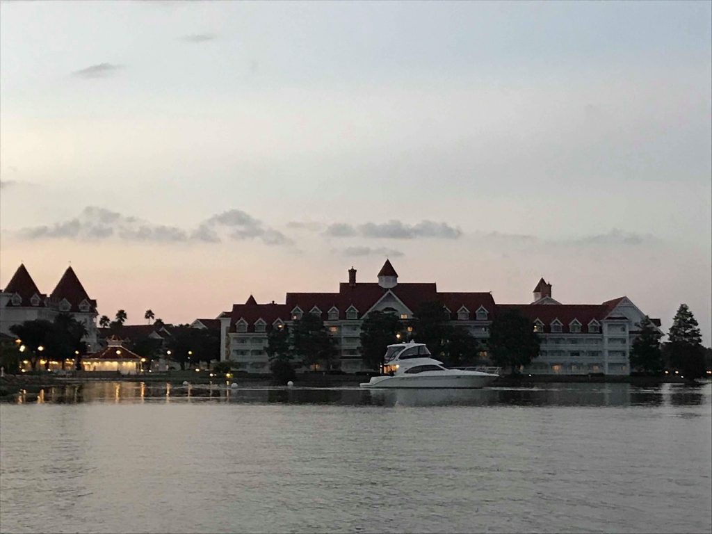 Disney's Grand Yacht sailing on Bay Lake