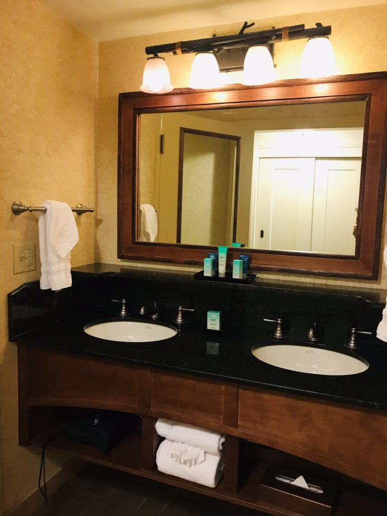 Double Vanity at Disney's Wilderness Lodge