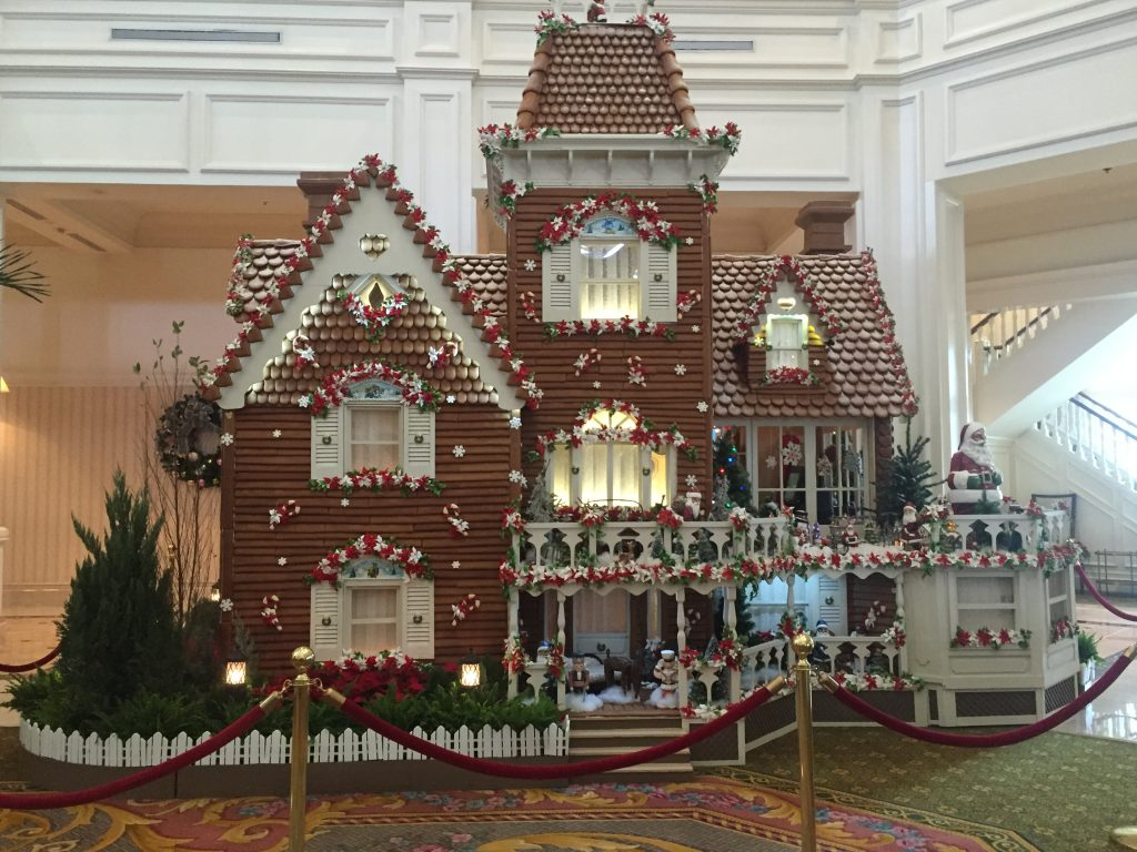 Life size Gingerbread House at Disney's Grand Floridian Resort
