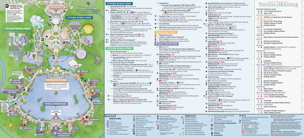Epcot Festival of the Holidays Map 2018
