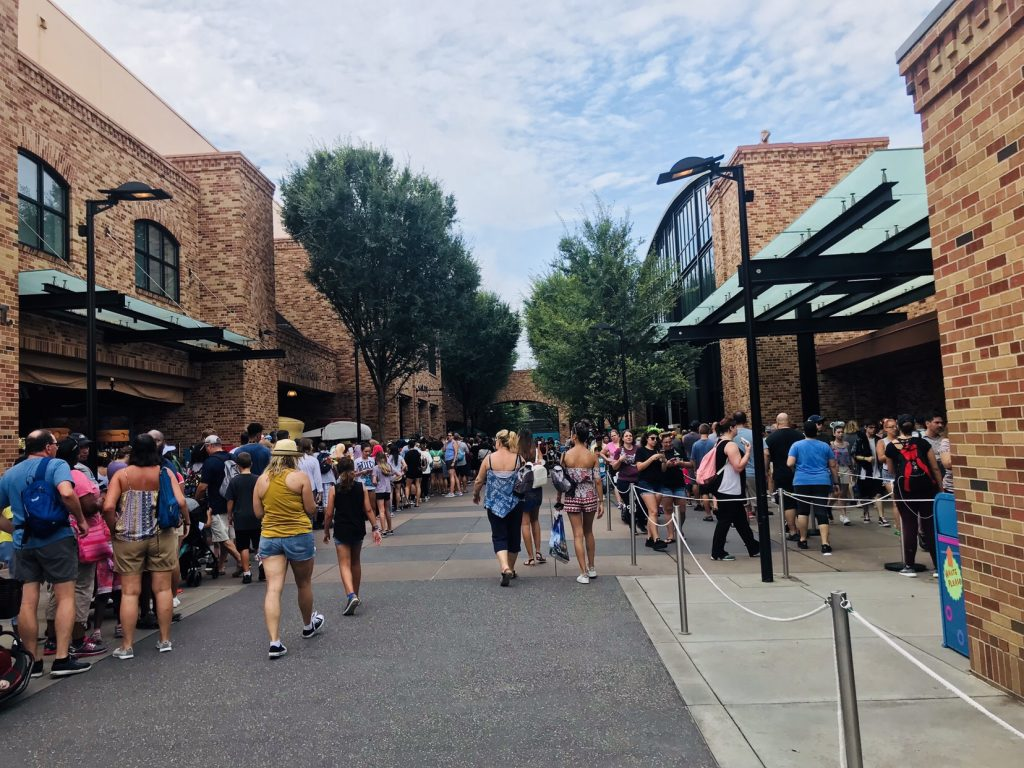 Pixar Place on opening day of Toy Story Land shortly before it was closed to be reimiagined