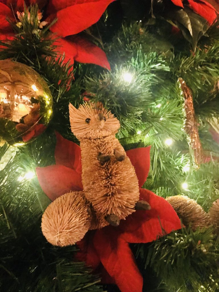 Chipmunk ornament on Disney's Wilderness Lodge tree