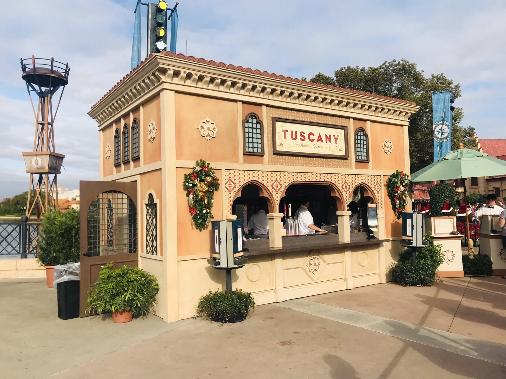 Tuscany Italy Holiday Kitchen booth menu Epcot Holiday Festival