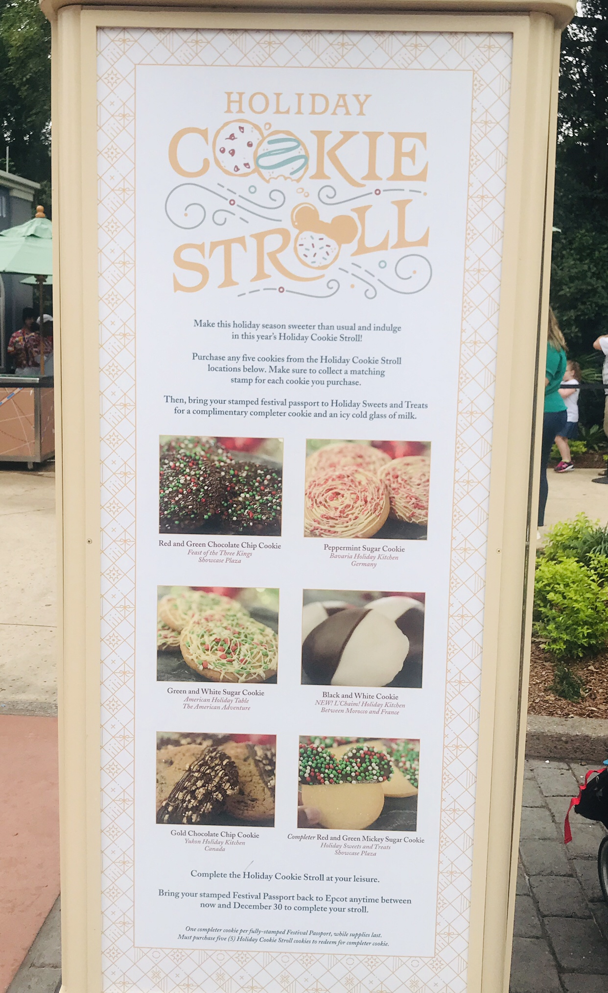 New Holiday Cookie Stroll at Epcot Festival of the Holidays