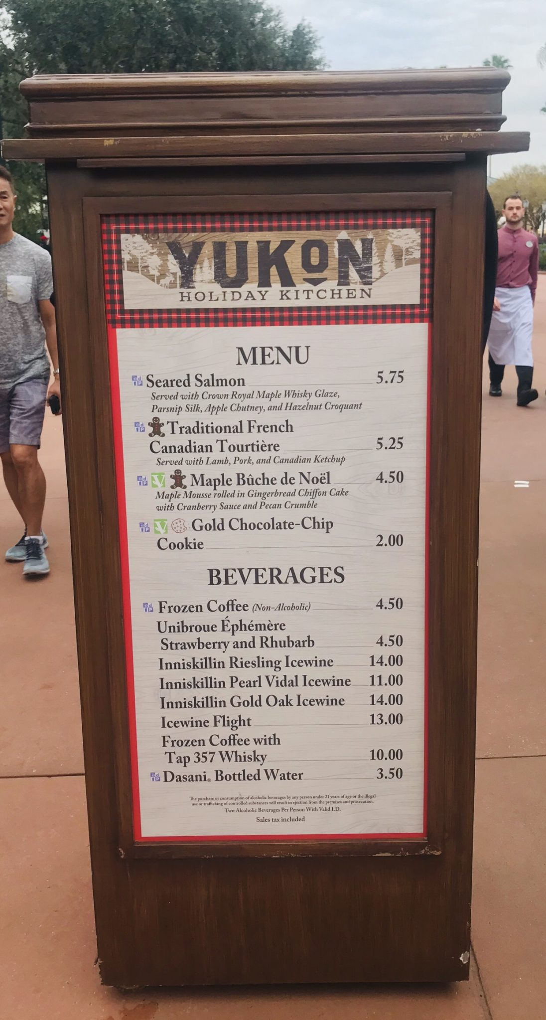 Yukon Canada booth menu Epcot Holiday Festival