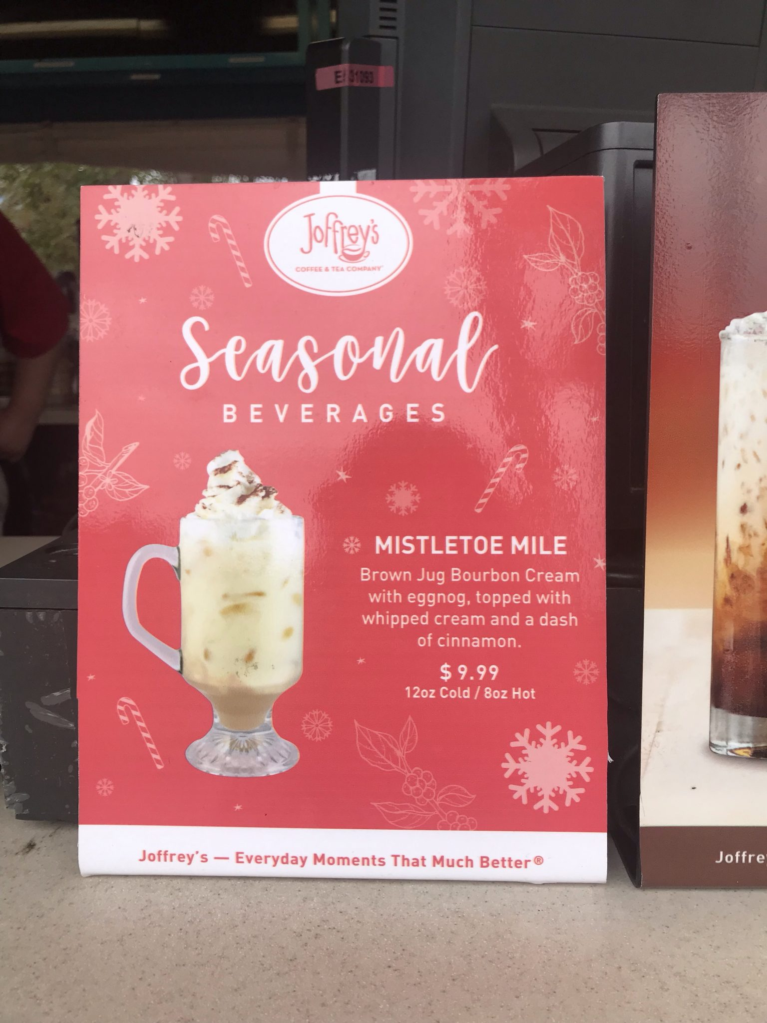 Joffreys Seasonal Beverage Mistletoe Mile Epcot Holiday Festival
