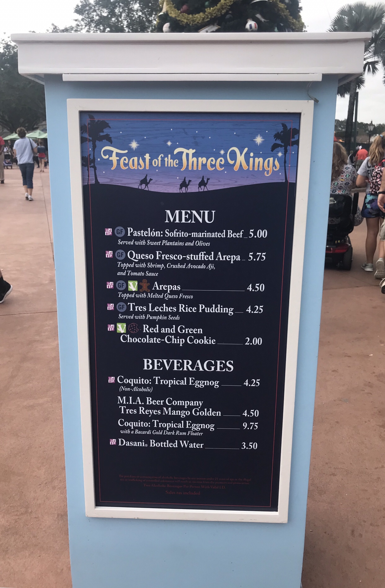 Feast of the Three Kings booth menu Epcot Holiday Festival