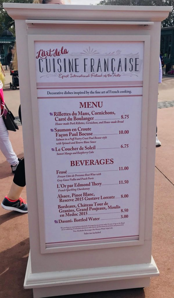 L'art de la Cuisine Francaise in France at Epcot Festival of the Arts