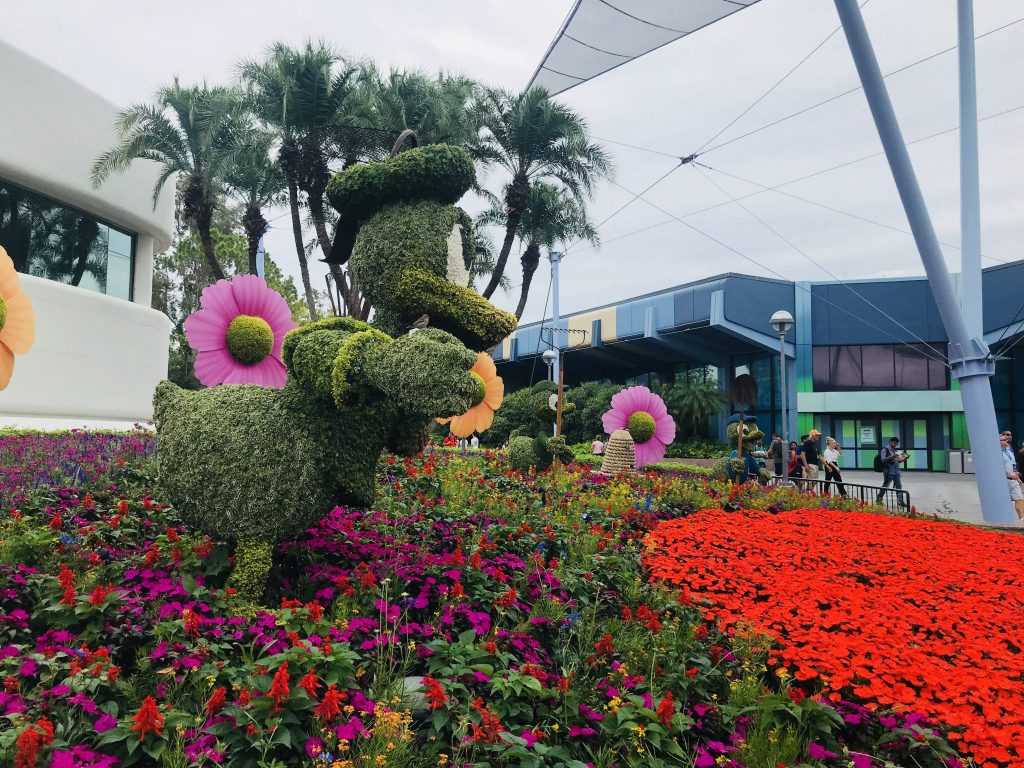 Huey, Dwey and Louie at the Epcot Flower and Garden Festival