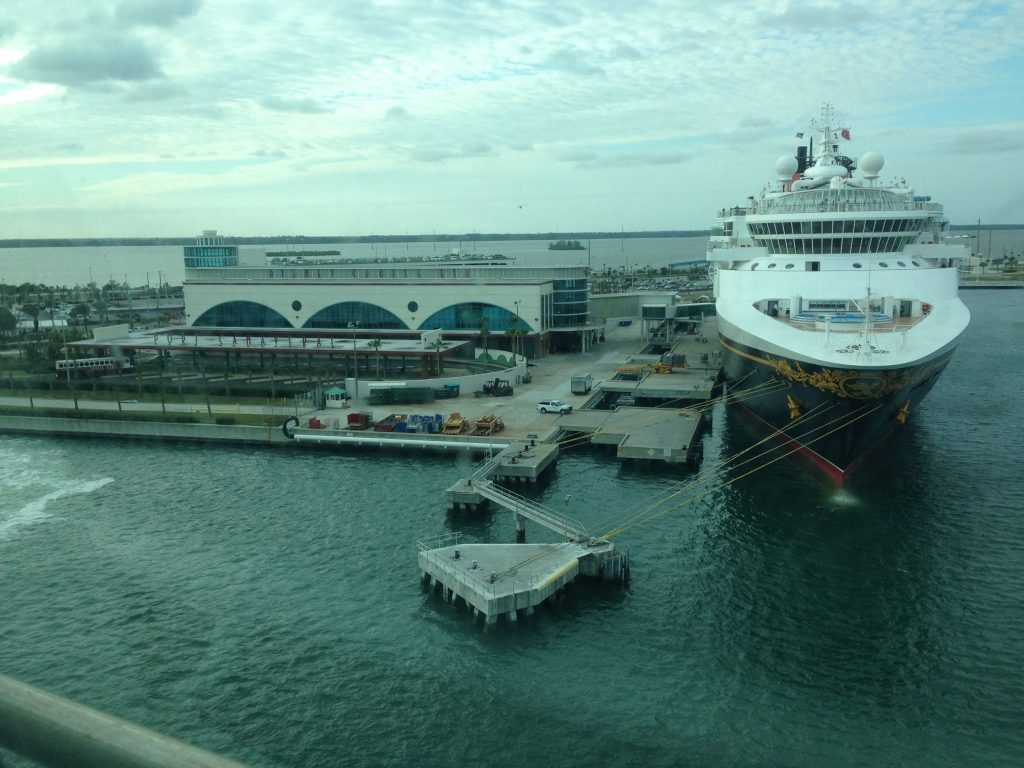 Disney Fantasy ship in Port Canaveral
