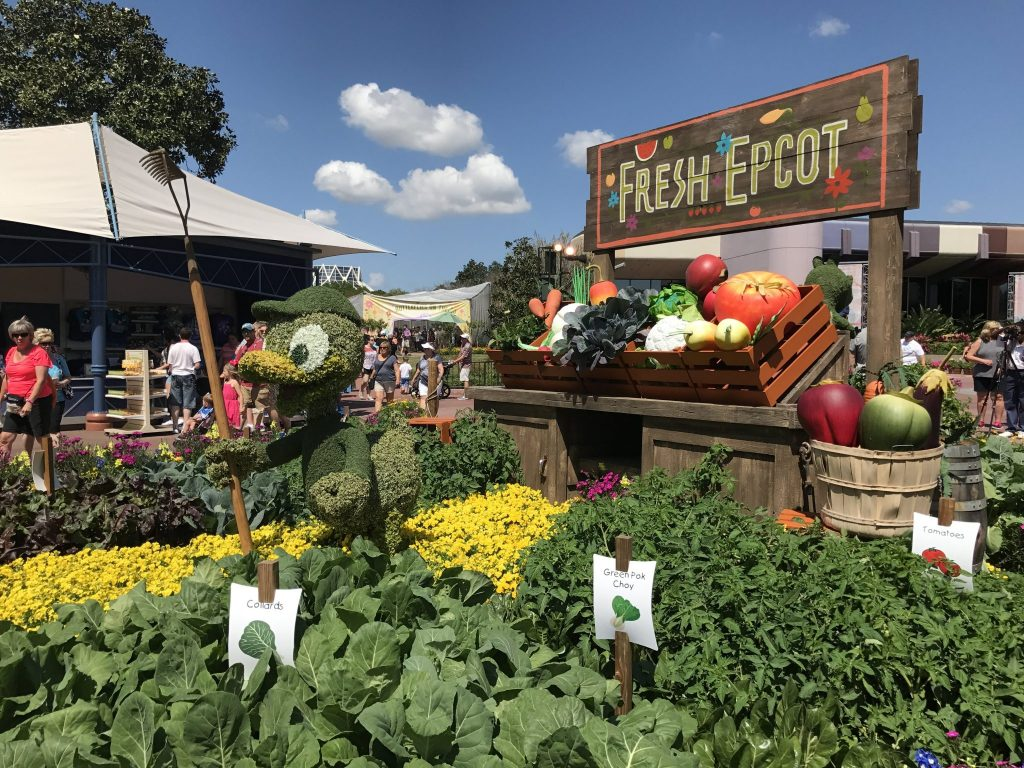 Fresh Epcot Huey topiary and garden at Epcot Flower and Garden Festival
