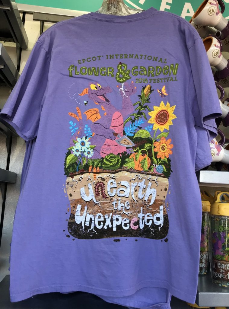Figment tshirt at Epcot Flower & Garden Festival