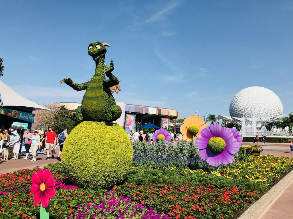 Figment topiary at Epcot Flower and Garden Festival