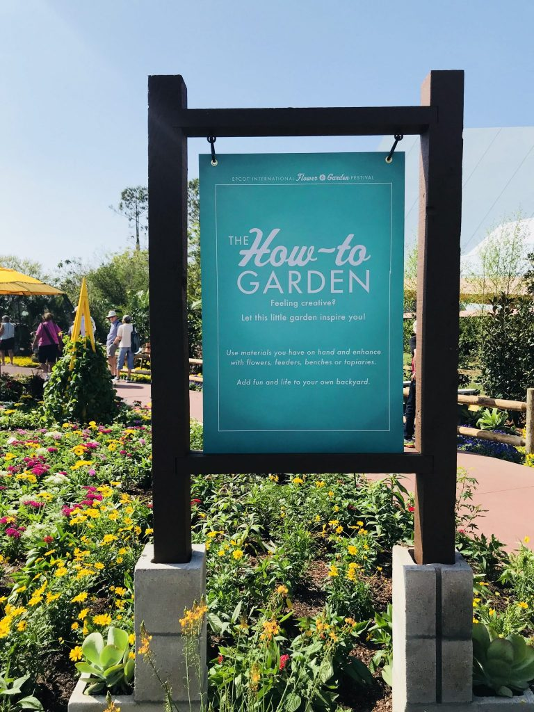 How to Garden at Epcot Flower and Garden Festival