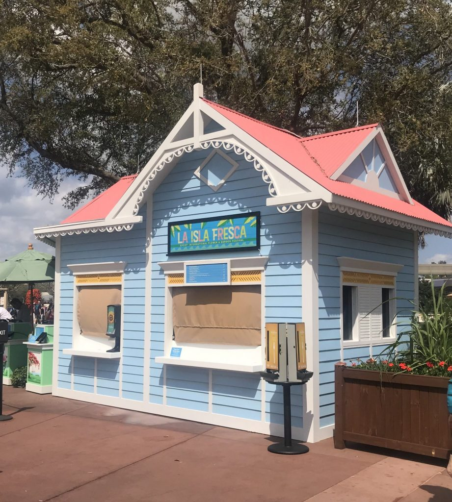 La Isla Fresca outdoor kitchen at the Epcot Flower and Garden Festival
