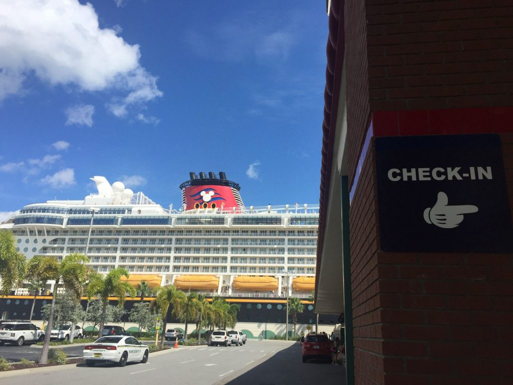 Disney Cruise Port arrival and check in