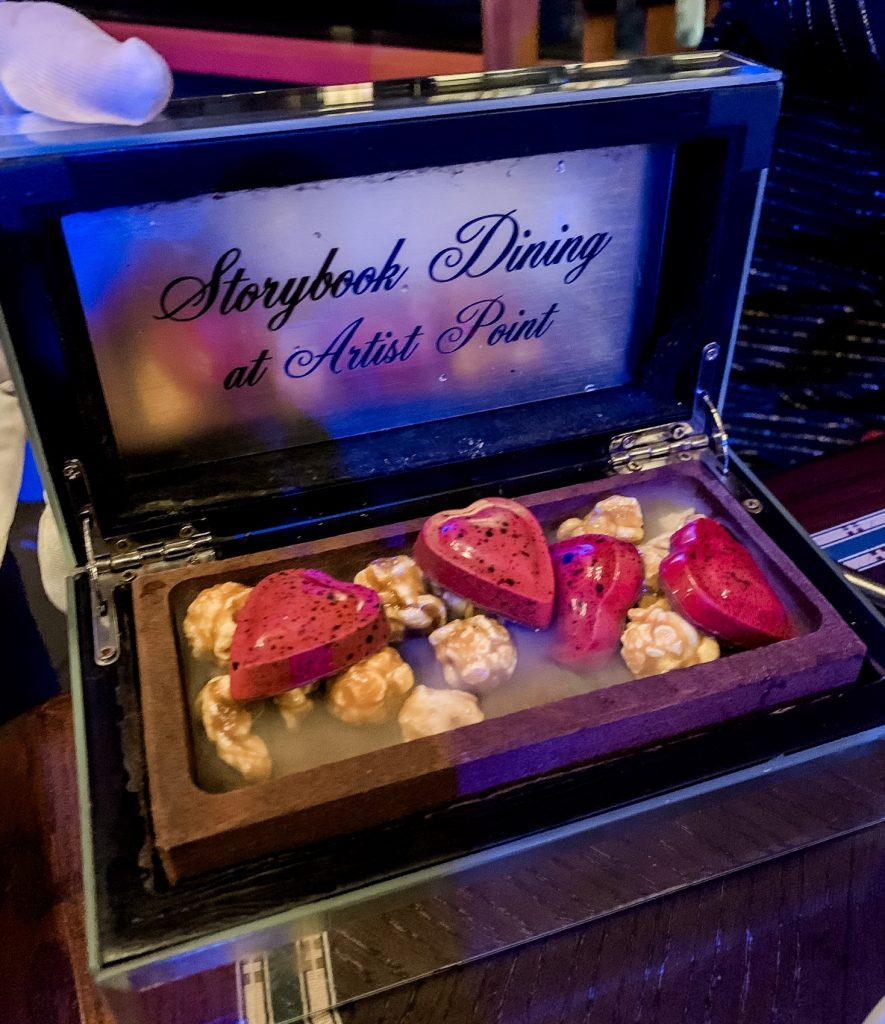 Hunters Gift dessert at Storybook Dining with Snow White