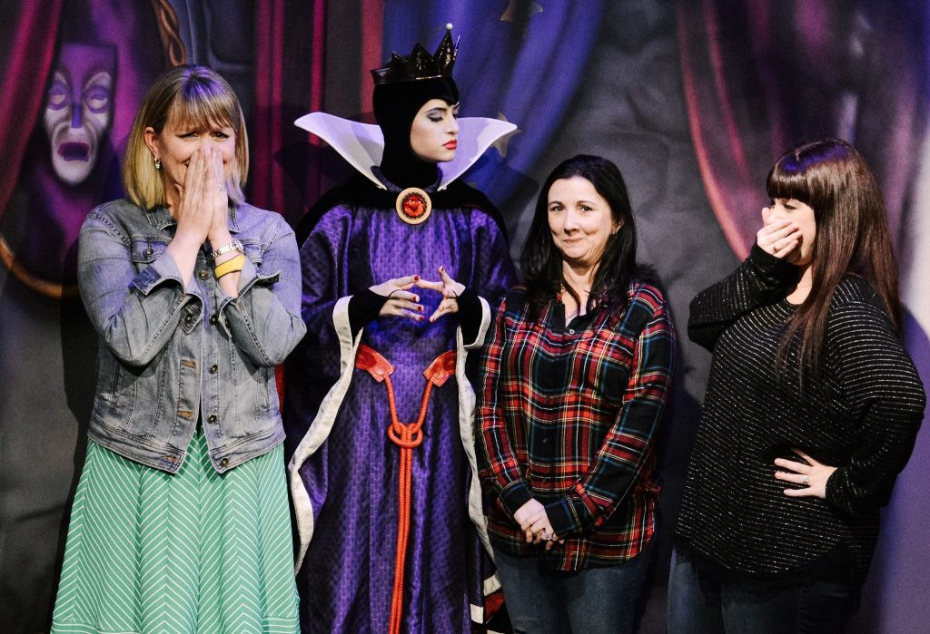 The Evil Queen giving me the Evil eye at Storybook Dining with Snow White