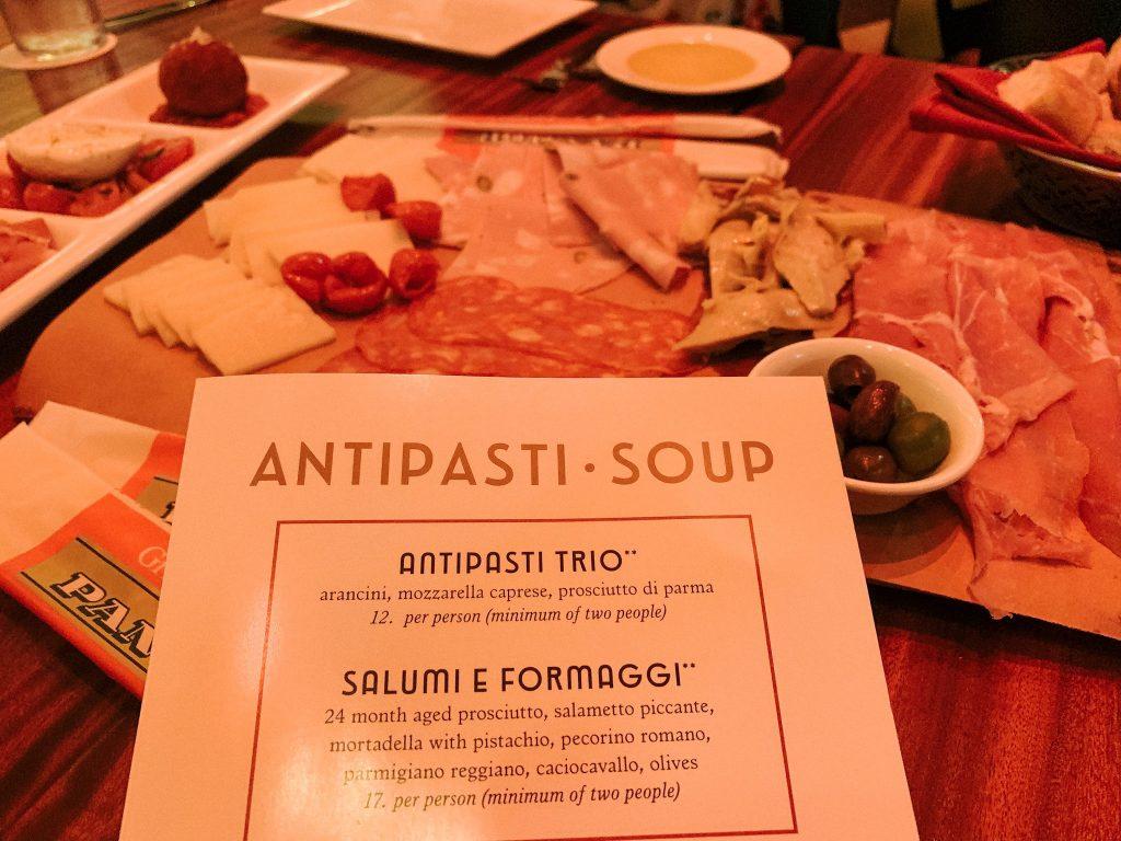 Antipasti Trio at Maria & Enzo's at Disney Springs